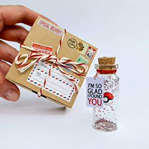 Anniversary Present For Girlfriend I choose you Bottle My Best Catch Wish Jar (Craft Box, Im So Glad I found You)