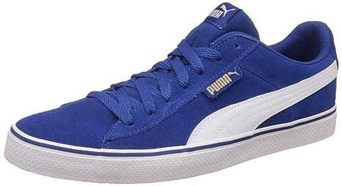 Puma Men s 1948 Vulc True Blue and White Sneakers - 10 UK India (44.5 5bb9e6719