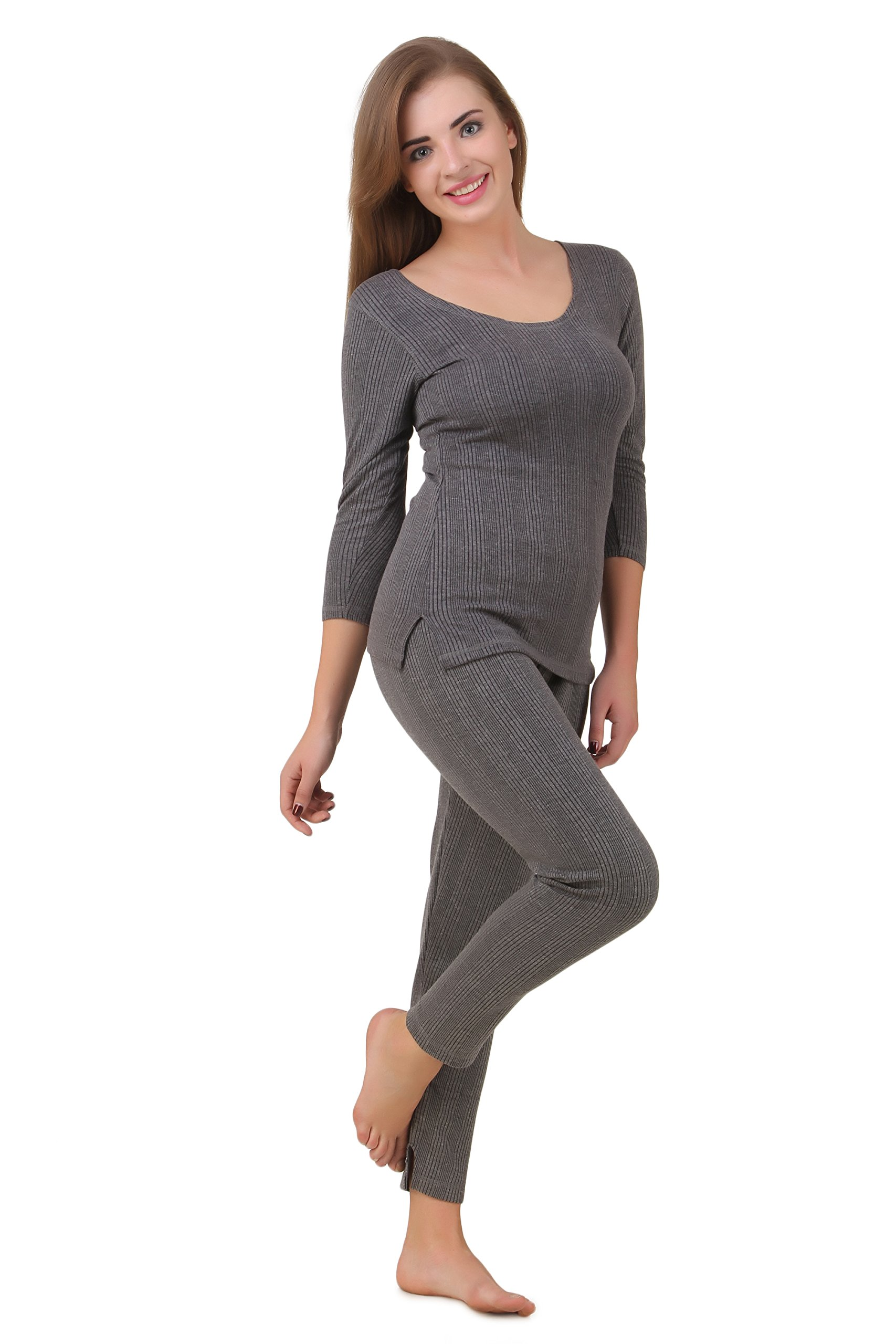 HAP Women's Poly Cotton Quilted Thermal Top, Trouser Set/Female Thermal/Ladies Thermal Set (Dark Grey)(Extra Extra Extra Large) 3XL (B01N3PHAJ9) Amazon Price History, Amazon Price Tracker