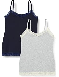 Marca Amazon - IRIS & LILLY Camiseta de Tirantes Body Natural para Mujer, Pack de 2: Amazon.es: Ropa y accesorios