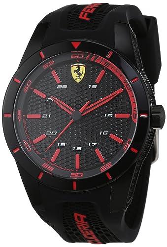 pas mal a5153 1f168 Scuderia Ferrari Homme Analogique Quartz Montres bracelet avec bracelet en  Silicone - 0830245