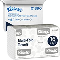 Kleenex Multifold Toallas de papel, Toalla de papel, Blanco, 1 caja de 16 paquetes