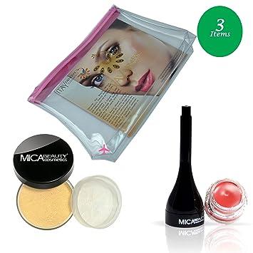 97a053d0664e Amazon.com : (Bundle of 3 Items) MicaBeauty Full Size Foundation MF2 ...