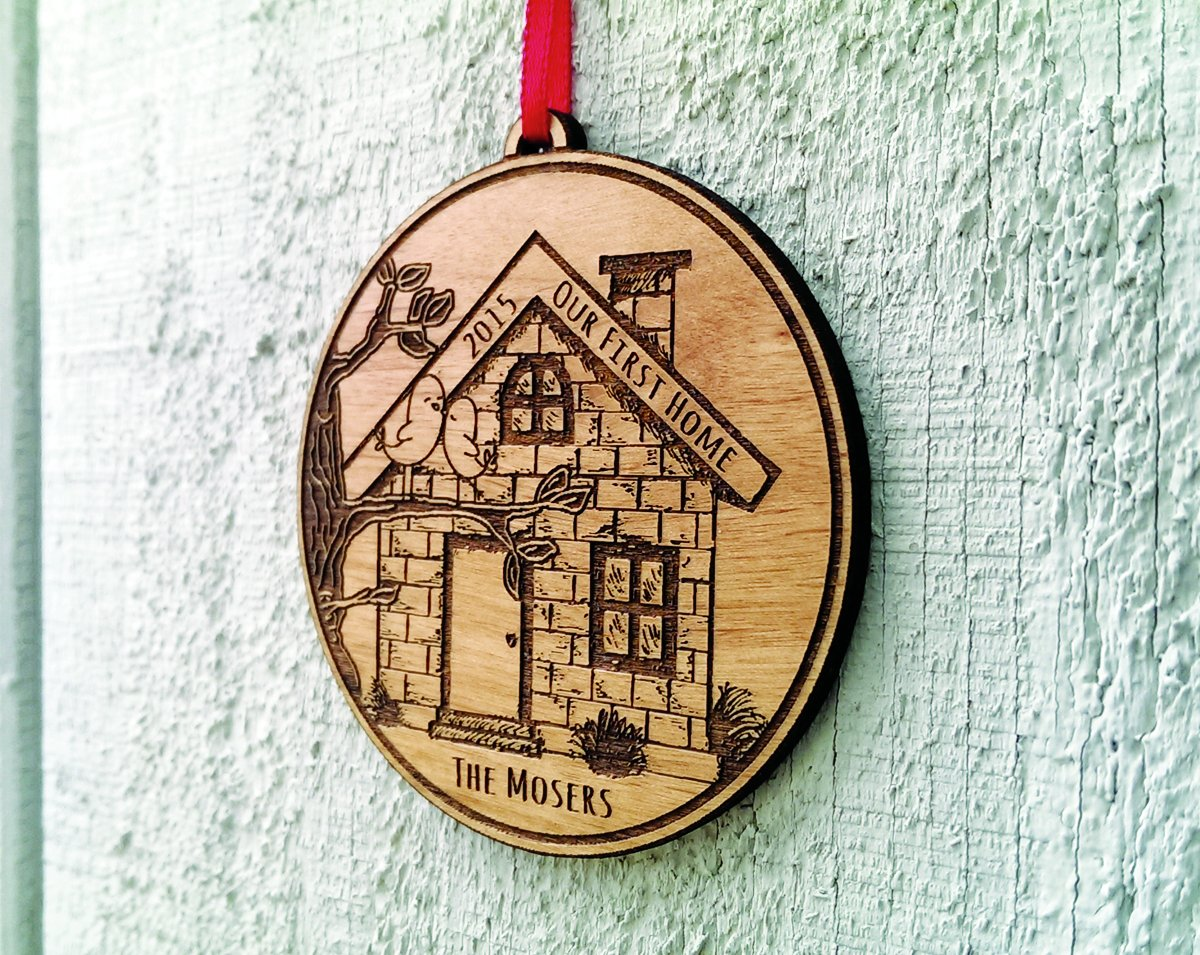 Amazon.com: Our First Home Christmas Ornament Personalized First House  Ornament House Warming Gift Christmas Ornaments Couple First Christmas  Holiday Tree ...