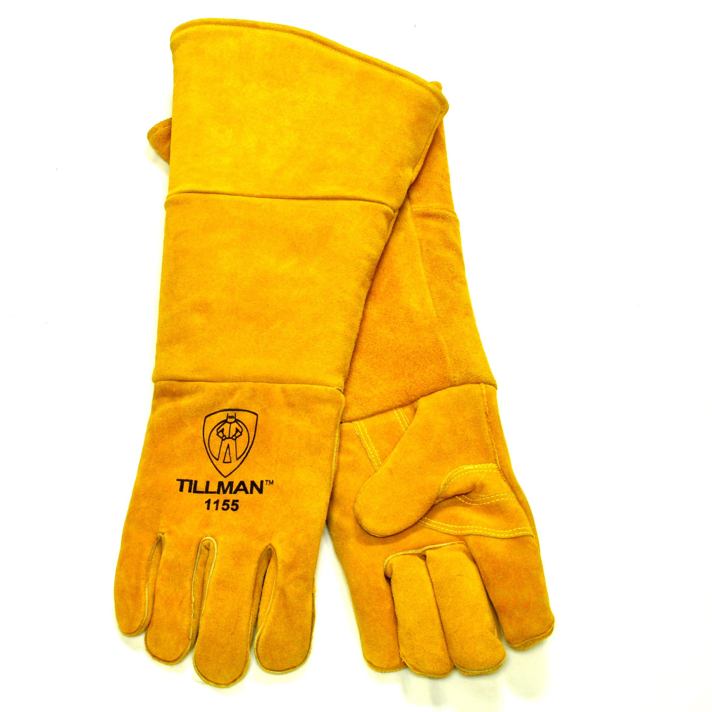 Tillman 1155 Cowhide Stick Welding Glove Padded/Insulated Cuff, Brown 20'', Large