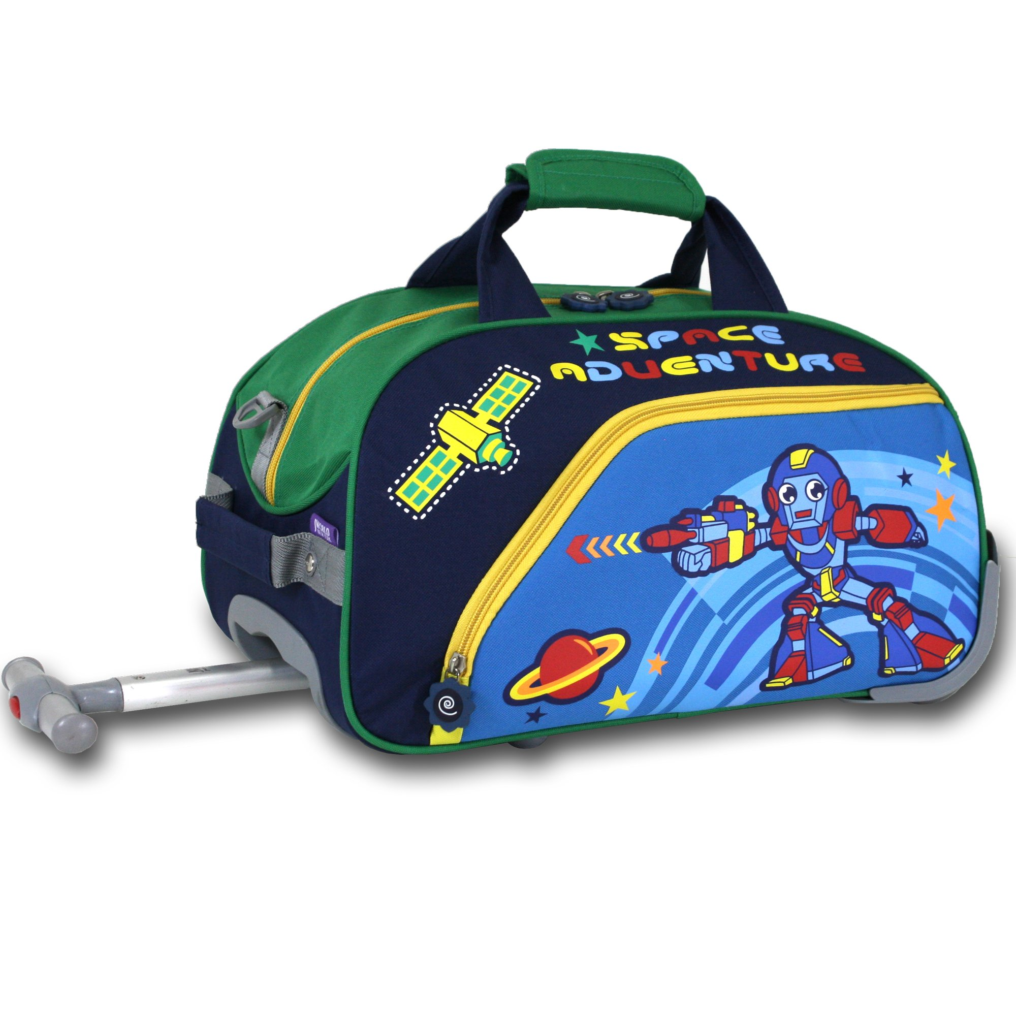 J World New York Robot Kids' Rolling Duffel