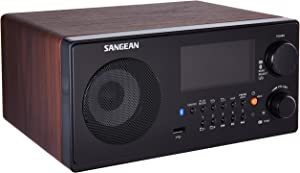 Sangean WR-22WL AM/FM-RDS/Bluetooth/USB Table-Top Digital Tuning Receiver (Dark Walnut)