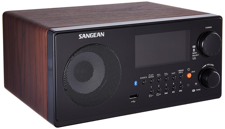 Sangean WR-22WL AM/FM-RDS/Bluetooth/USB Table-Top Digital Tuning Receiver (Dark Walnut) Sangean - CA