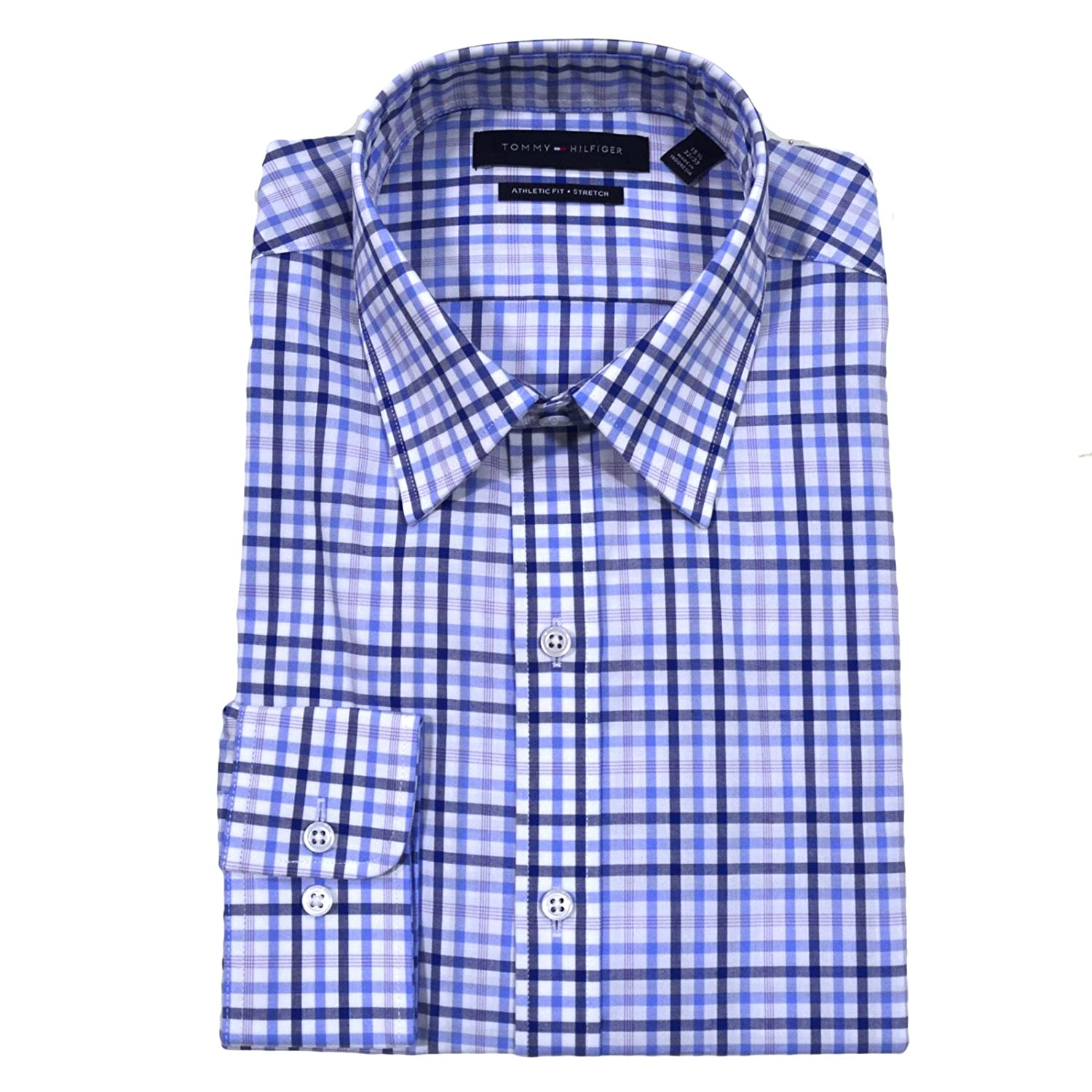 Tommy Hilfiger Athletic Fit Dress Shirt 15 3233 Blue Cloud At