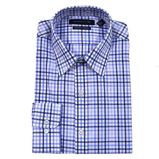 Tommy Hilfiger Athletic Fit Dress Shirt 15 32 33 Blue Cloud At