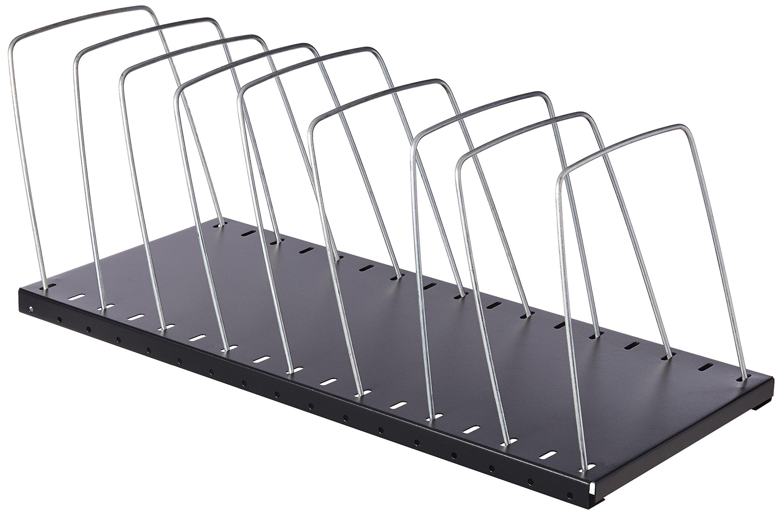 MMF Industries Adjustable Steel Wire Rack, Black (2649012BK)