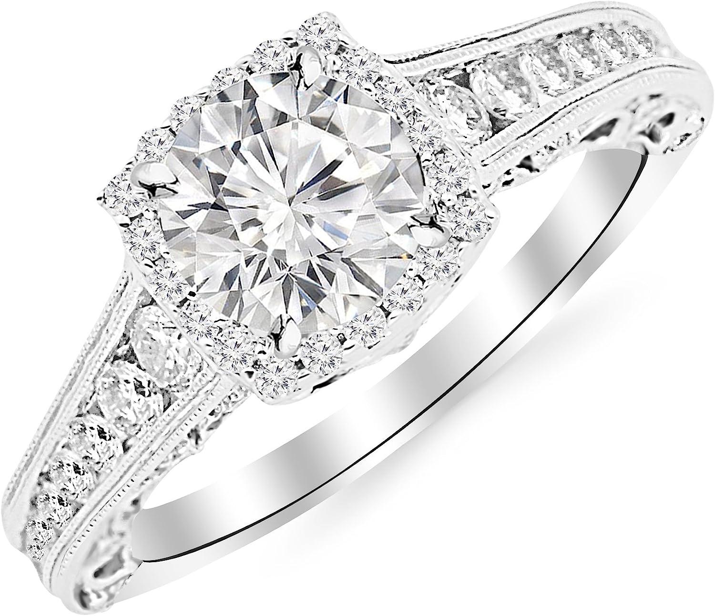 14K White Gold Over 2.75 Carat Pear Diamond Engagement /& Wedding Ring SeT