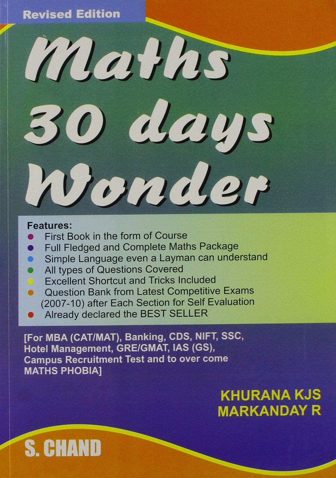 Maths 30 Days Wonder: K. J. S. Khurana, R. Markanday: 9788121933599 ...