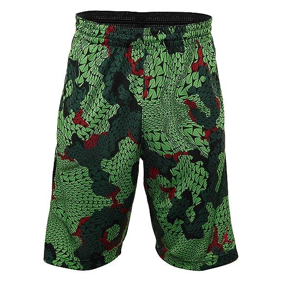 37fe26d773d Amazon.com   Nike Men's Jordan Flight Printed Black/Green 688530-010 (L)    Basketball