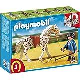 Playmobil - 5107 - Jeu de construction - Cheval et monitrice