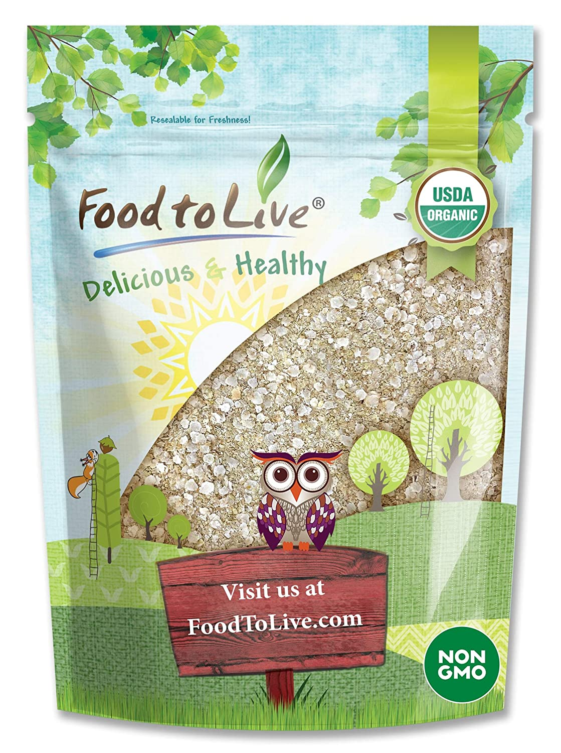 Organic White Quinoa Flakes, 4 Pounds - Non-GMO Pressed Quinoa Seeds, Vegan, Kosher, Bulk, High in Protein, Riboflavin, and Phosphorus. Great for Cooking, Baking, Oatmeal, Breakfast Cereals