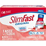 SlimFast Original Strawberries & Cream Shake – Ready to Drink Weight Loss Meal Replacement – 10g of protein – 11 fl. oz…