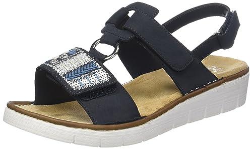 Rieker Damen 610D2 Geschlossene Sandalen, Blau (Pazifik), 40
