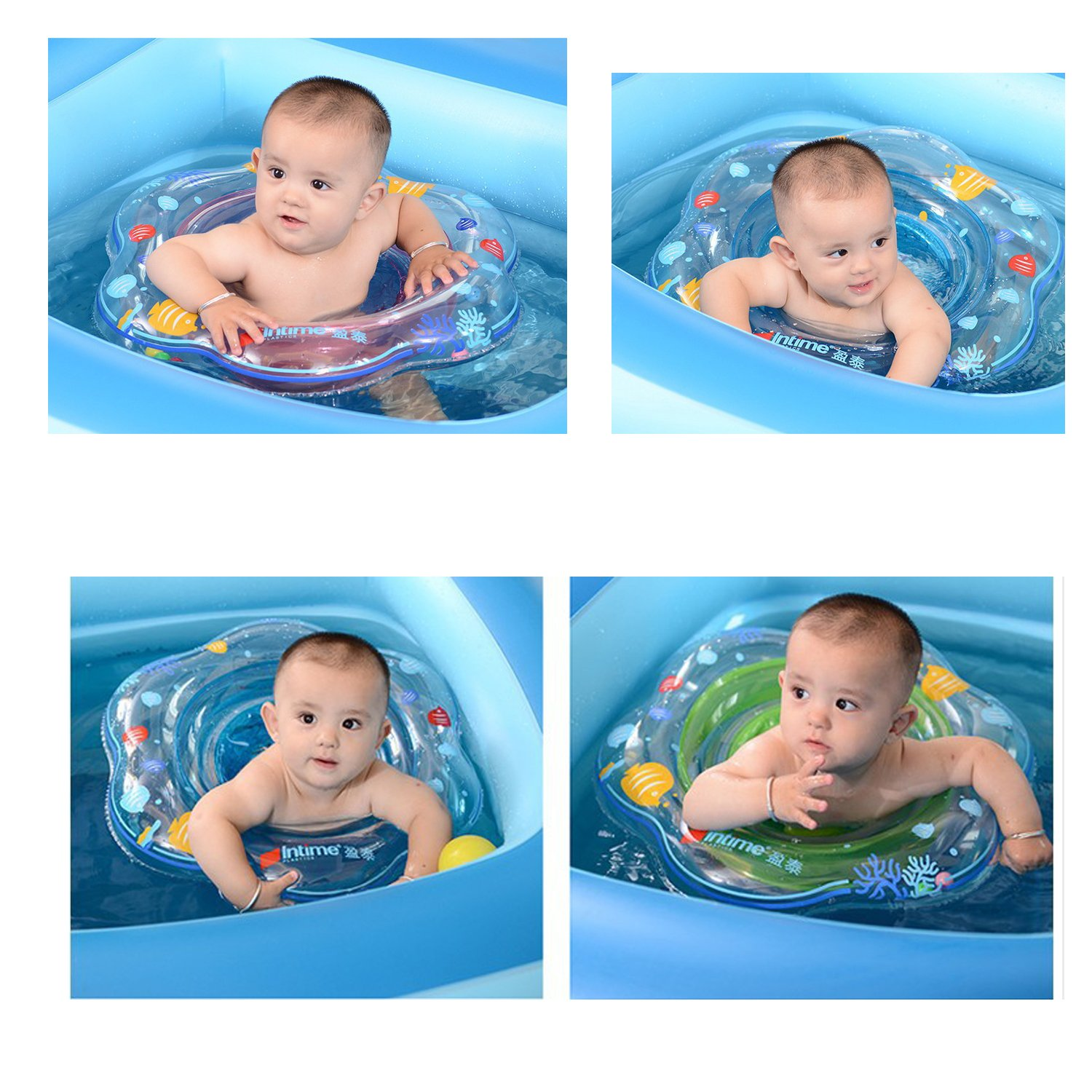 Amazon.com: Baby Kids Toddler Double Airbags Inflatable Swimming ...