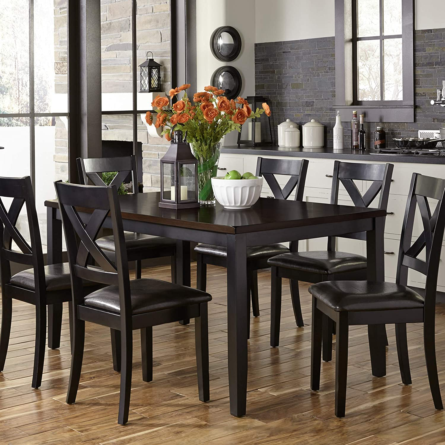 Liberty Furniture INDUSTRIES 464-CD-7RLS Thornton II 7 Piece Rectangular Table Set, W36 x D60 x H30