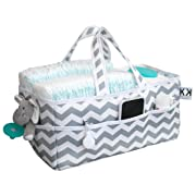 Diaper Caddy Organizer from Kiddy Kaddy by Bubble Bug. Premium Diaper Tote and Nursery Storage Perfect for Diapers, Wipes, Toys, Books and More. A Must Have for New Parents at Home and On The Go.