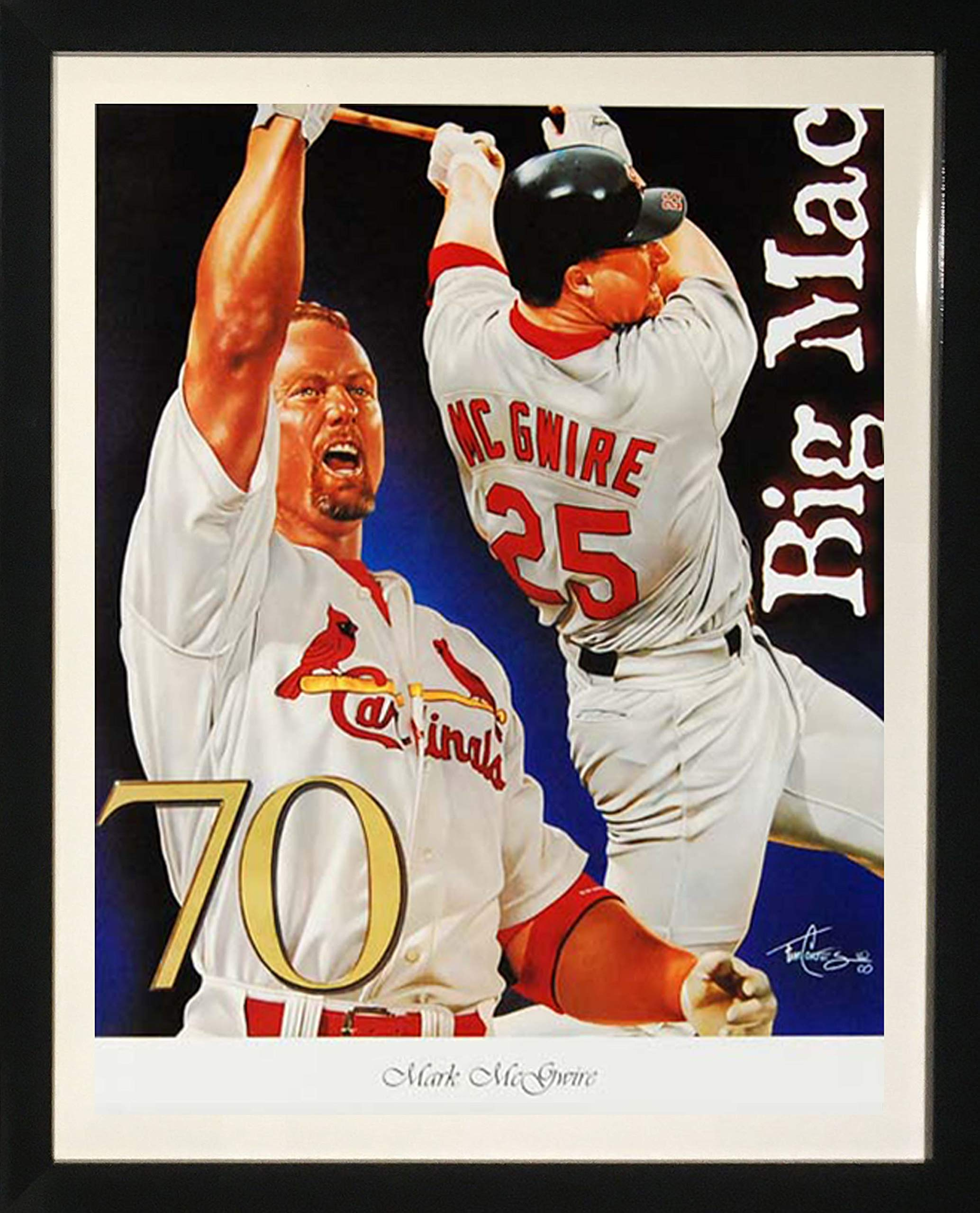 Framed Art''Mark McGwire'' by Tim Cortes by