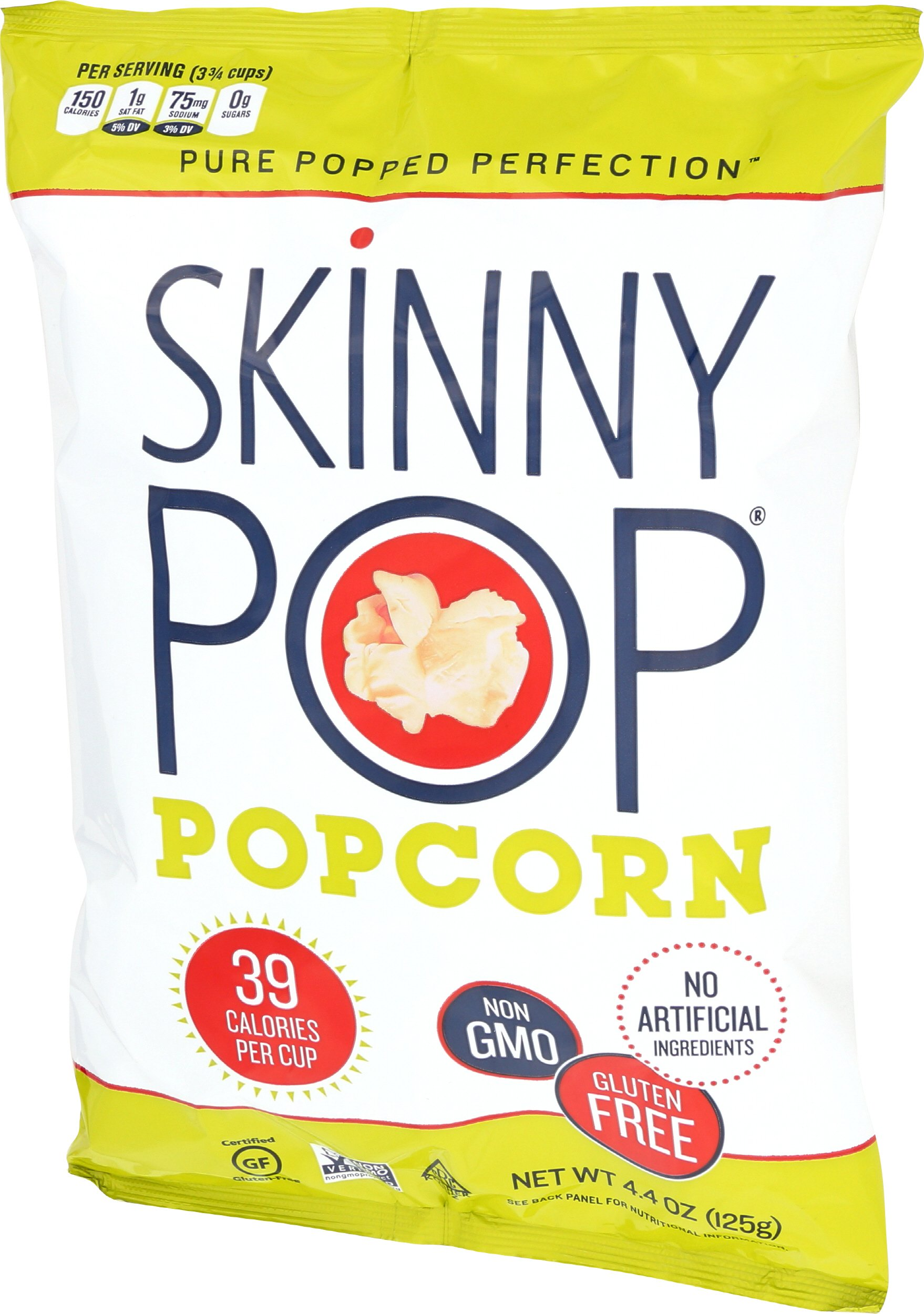 SKINNYPOP Original Popped Popcorn, Individual Bags, Gluten Free Popcorn, Non-GMO, No Artificial Ingredients, A Delicious Source of Fiber, 4.4 Ounce (Pack of 12) by SkinnyPop (Image #8)