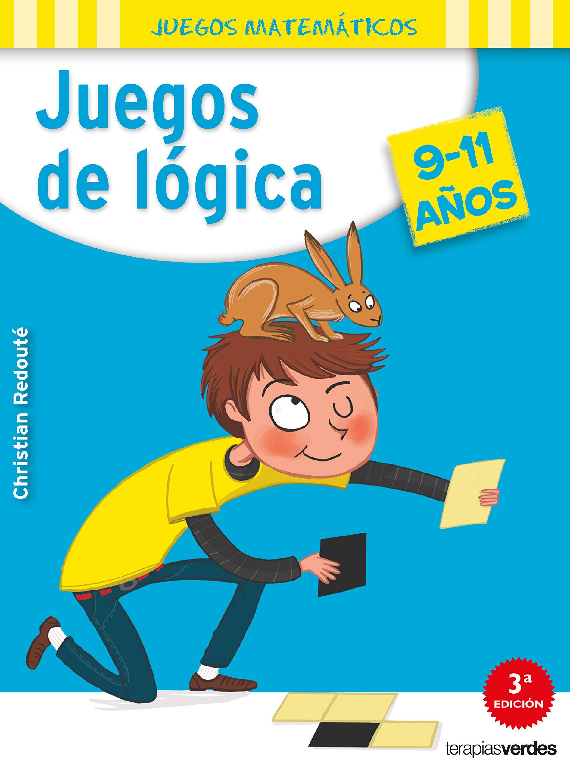 Juegos de lógica 9-11 años Terapias Juegos Didácticos: Amazon.es: CHRISTIAN  REDOUTÉ, Susana Peralta Lugones: Libros