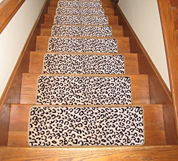 Soloom Carpet Stair Treads Set Of 13 Non Slip Stair Rugs 26u0026quot;x10u0026quot;,