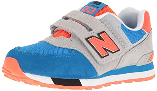 New Balance Unisex Kinder Kv574cki M Hook and Loop Sneakers, TealWhite, Medium