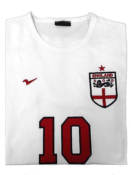 Womens Inglaterra Camisetas Euro 2016 Fútbol Loose Fit – Camiseta de fútbol Azul Blanco X-