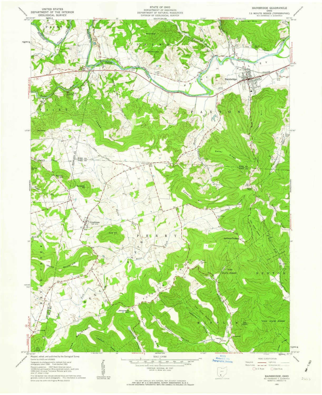 Amazon Com Yellowmaps Bainbridge Oh Topo Map 1 24000 Scale 7 5 X