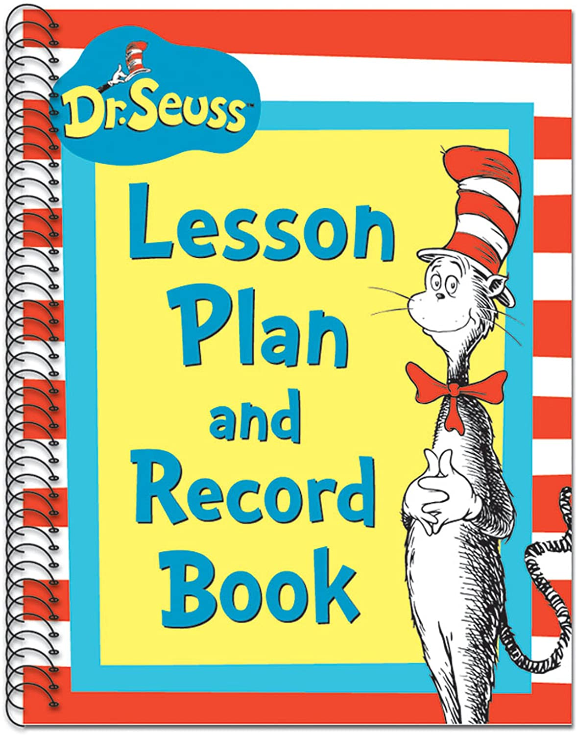 "Eureka Dr. Seuss's Cat In Hat Lesson Plan/Record Book Miscellaneous, 40 Weeks, 8.5"" x 11"": Toys & Games"