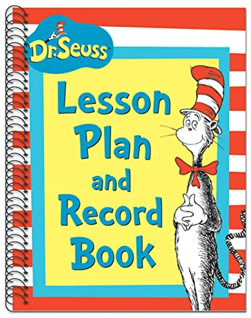 Amazon.com: Eureka Dr. Seuss's Cat In Hat Lesson Plan/Record Book ...