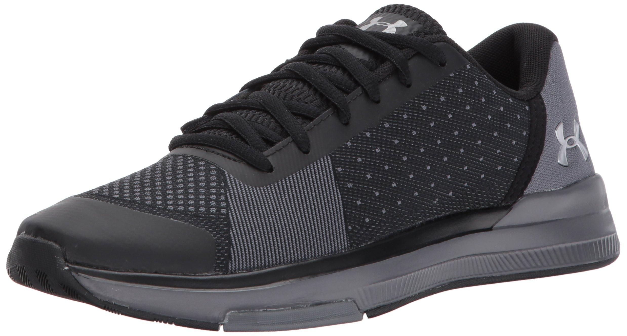 Under Armour Women's Showstopper Sneaker, Black (001)/Graphite, 8.5