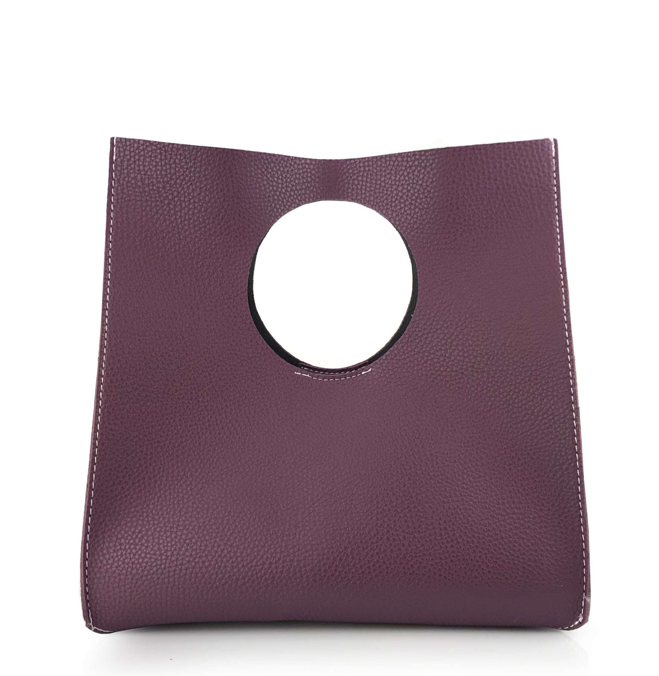 Hoxis Vintage Minimalist Style Soft Pu Leather Handbag Clutch Small Tote (violet)