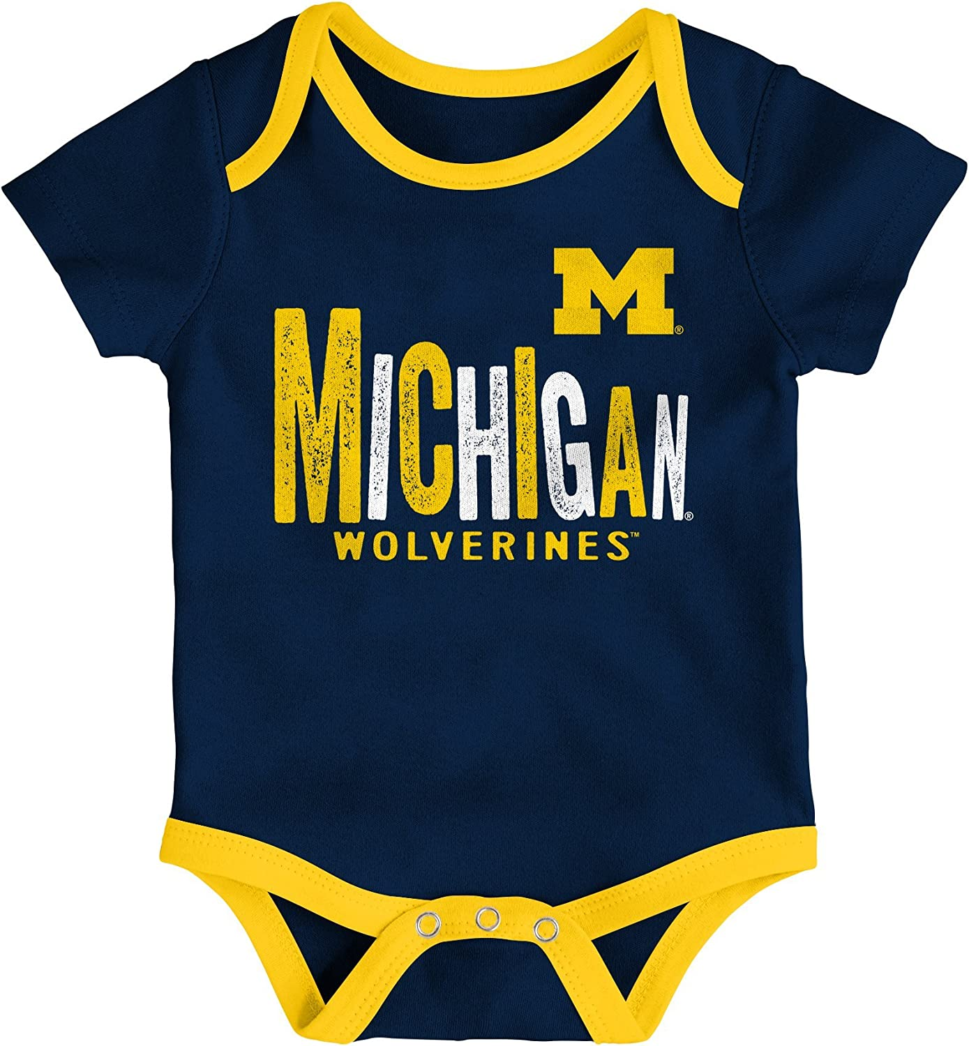 Michigan Wolverines Infant Baby 3-6 mon Booties Slippers NEW Shower Gift NCAA
