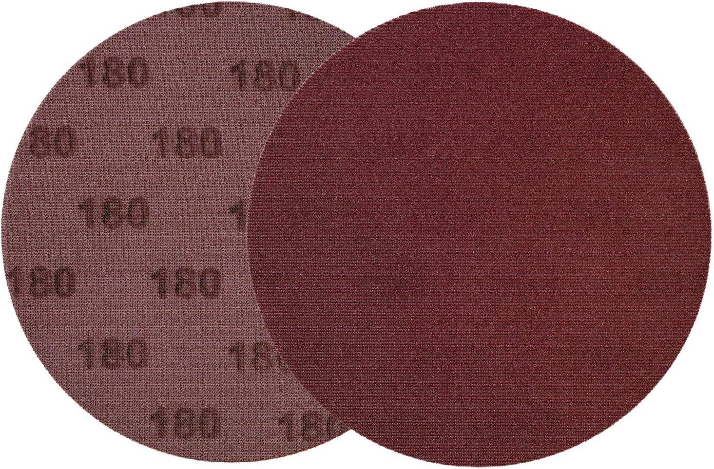 Klettschleifgitter 25 x Premium Schleifgitter /Ø 150 mm Klett Schleif-Netzgitter K/örnung 100 Schleifscheiben Aluminiumoxid volle Staubabsaugung Gitterschleifscheiben Feinschleifgitter