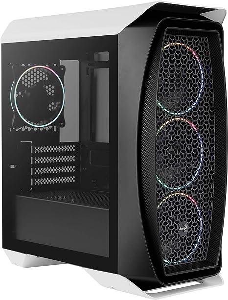 Aerocool AEROONEMINIECLIP, caja PC Micro ATX, 4 ventiladores,2 ...