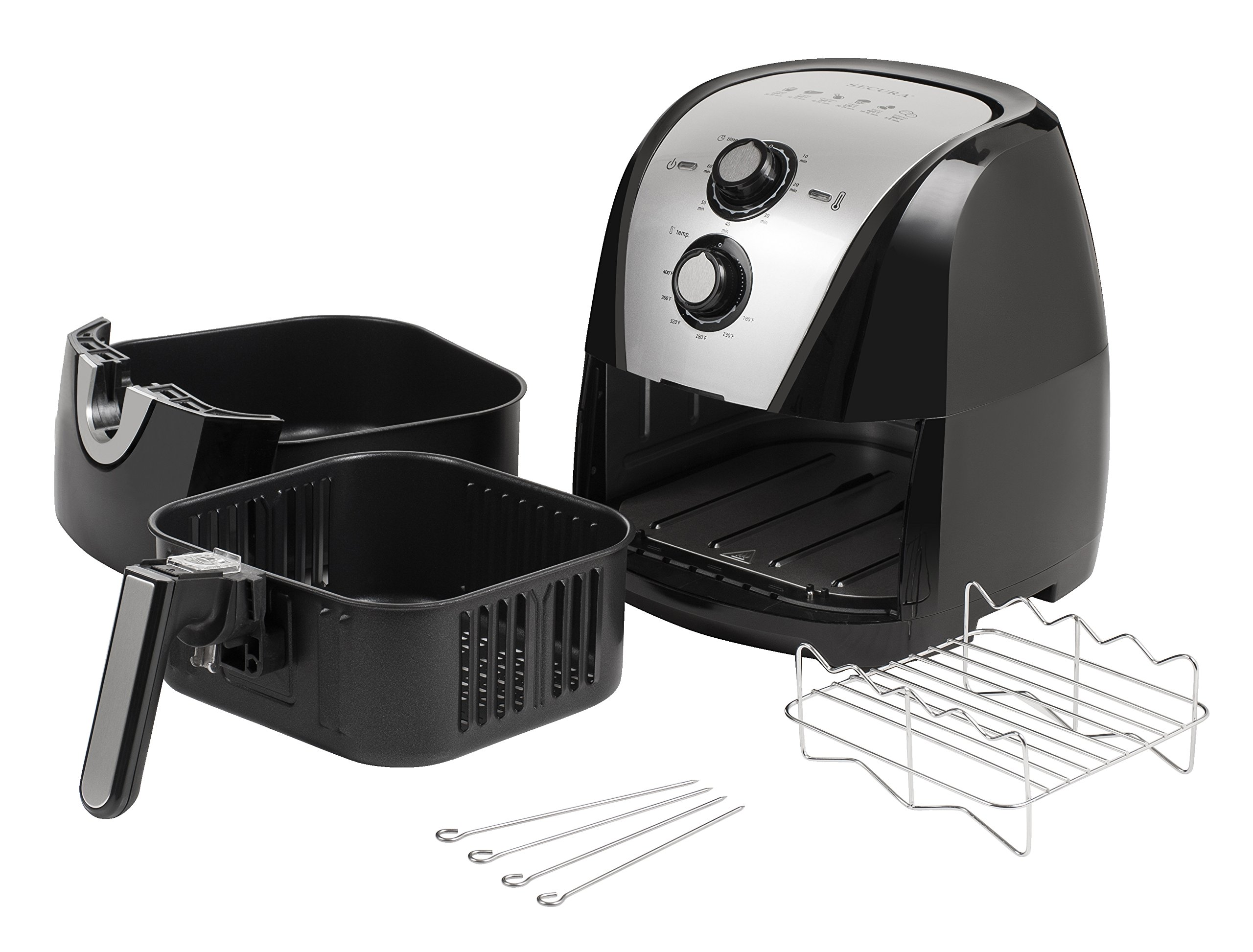 Secura Electric Hot Air Fryer Extra Large Capacity Air Fryer and additional accessories; Recipes and skewers accessory set (5.3Qt) by Secura (Image #4)