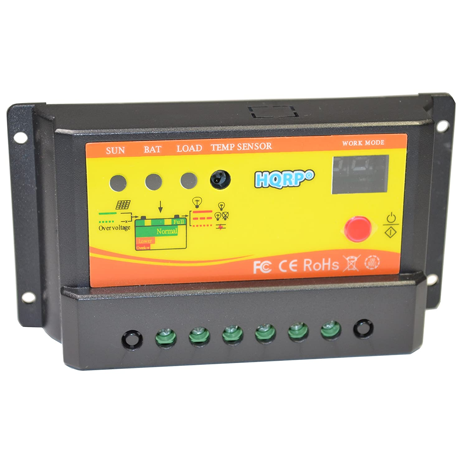 Hqrp Solar 10a Charge Power Controller Regulator 12v Voltage The Supply Is Essentially Same 24v 10 Amp With Led Indicator Plus Uv Meter Renewable Energy Controllers