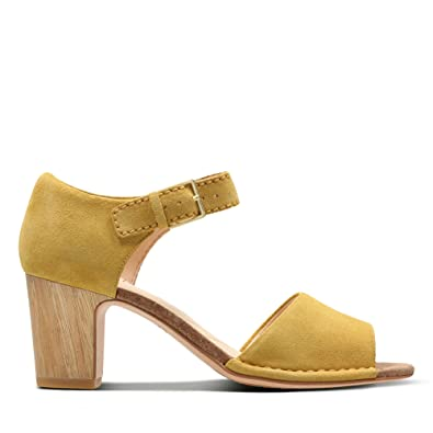 8fbc0d1966bef Clarks Spiced Olivia Suede Sandals in Standard Fit Size 5½ Yellow ...
