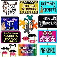 Party Propz™ Wedding Photo Booth Set of 18 Pieces / Mehandi Props/ Sangeet Props/ Bachelorette Props