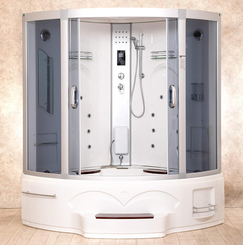 Ducha hidro con bañera junior 150 x 150 con baño turco y ...