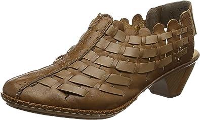 Rieker Damen 46778 22 Pantoletten, braun: : Schuhe
