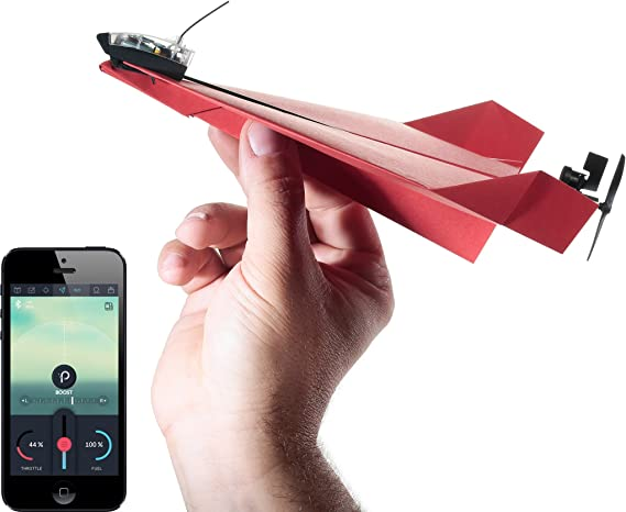 POWERUP 3.0 Original Smartphone Controlled Paper Airplanes Conversion Kit - Durable Remote Controlled RC Airplane for Beginners