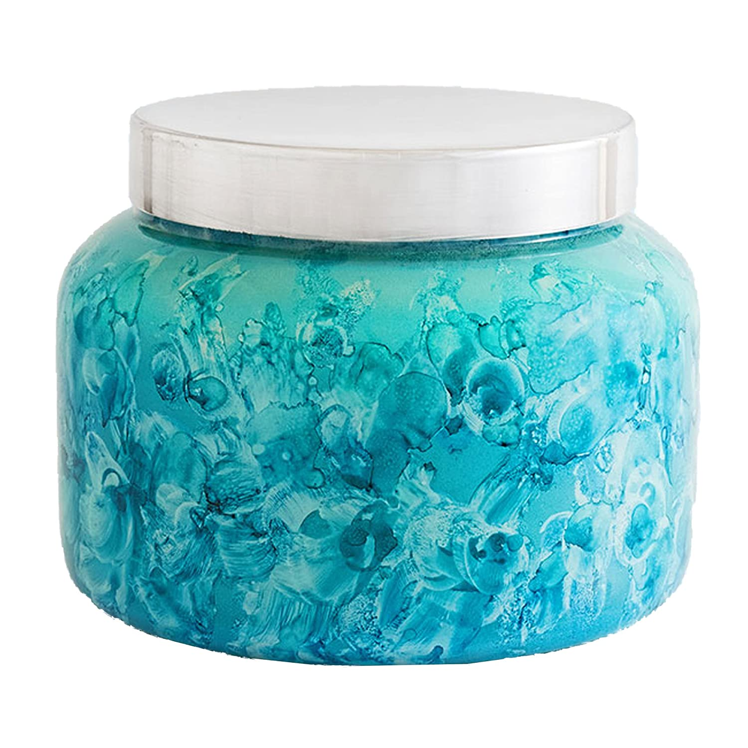 Capri Blue Volcano Watercolor Petite Jar Candle