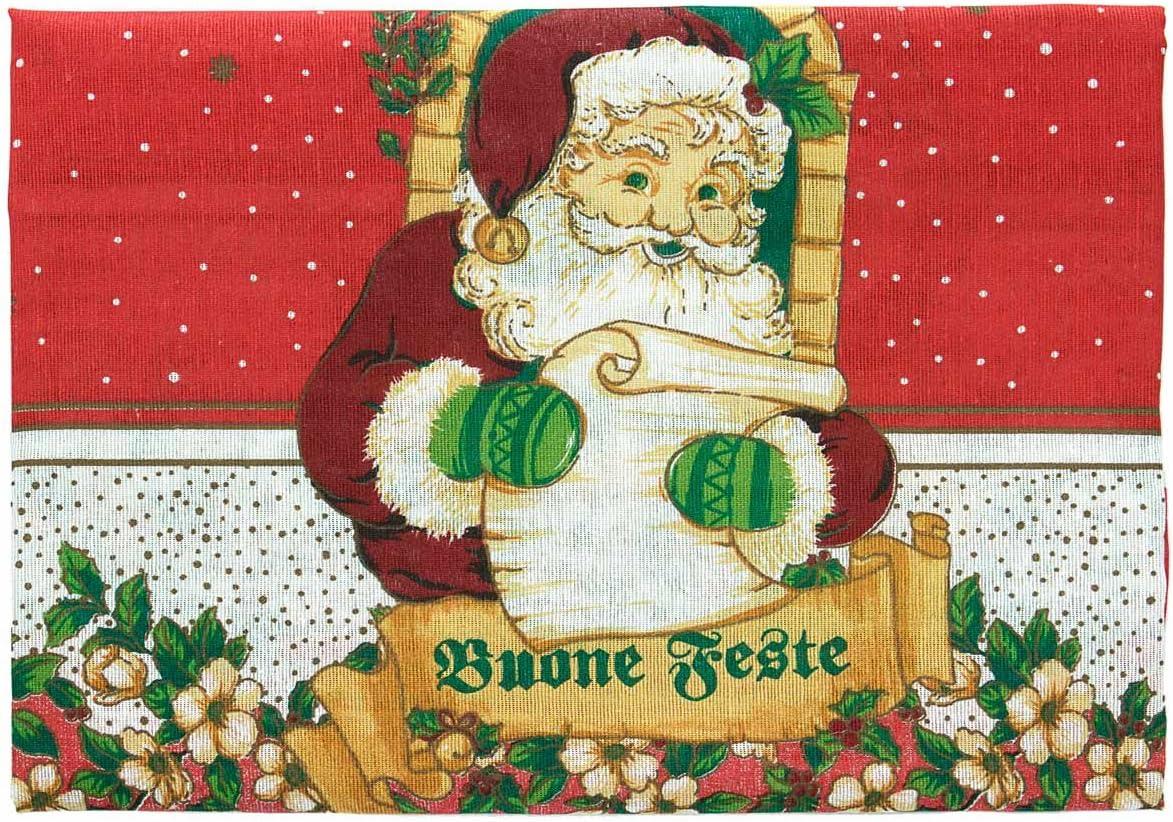 Mantel de Papá Noel para 6 personas 100 M069 algodón: Amazon.es: Hogar