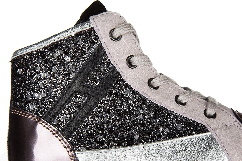 d9f55f37d3214 Hogan Rebel Scarpe Sneakers Bimba Bambina Alte Pelle Nuove r141 Zip Rosa   Amazon.it  Scarpe e borse