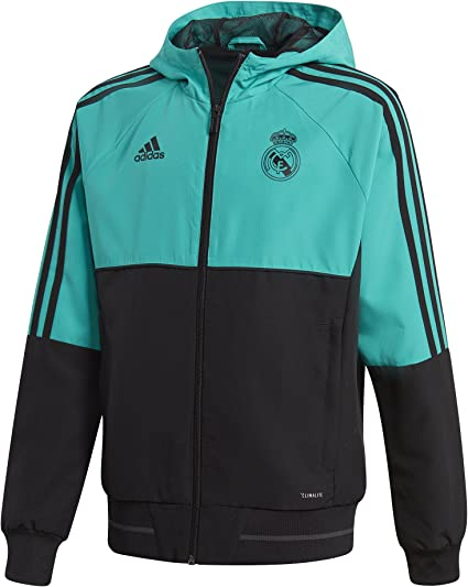 adidas real madrid presentation jacket aero reef black